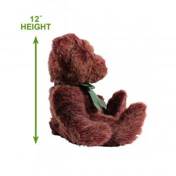 "spec-<PRE>Teddy Bear Brown Faux Fur Bear 12""H </PRE>"