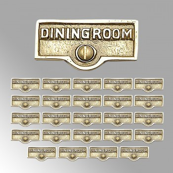 <PRE>25 Switch Plate Tags DINGING ROOM Name Signs Labels Brass </PRE>zoom2