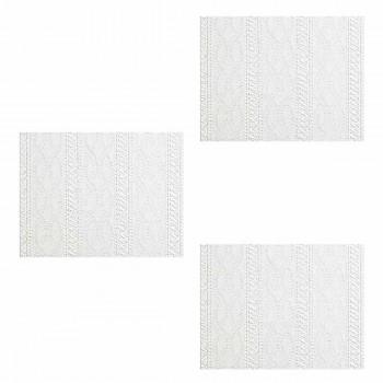 <PRE>3 Wallpaper White Embossed Textured Vinyl Greenwich </PRE>