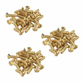 <PRE>Brass Switchplate Screws 6/32 x 1/2inch Slotted Oval Head Set of 75</PRE>zoom1