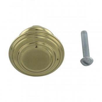 <PRE>10 Cabinet Knob Classic Brass 1inch Dia </PRE>zoom3