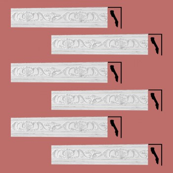 <PRE>Renovator's Supply Ornate Cornice White Urethane Sandoval Design 6 Pieces Totaling 512.25inch Length</PRE>zoom2