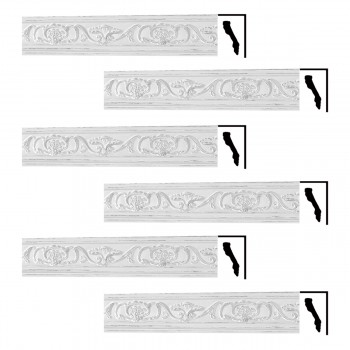 <PRE>Renovator's Supply Ornate Cornice White Urethane Sandoval Design 6 Pieces Totaling 512.25inch Length</PRE>zoom1