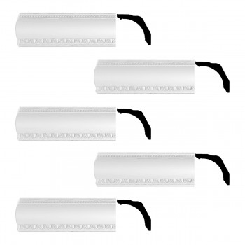 <PRE>Renovator's Supply Cornice White Urethane Gwendolyn Ornate Design 5 Pieces Totaling 393.75inch Length</PRE>zoom1