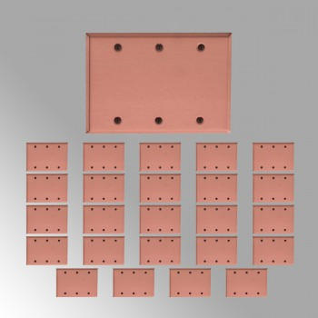 25 Switchplate Brushed Solid Copper Triple Blank Switch Plate Wall Plates Switch Plates