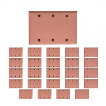 <PRE>25 Switchplate Brushed Solid Copper Triple Blank </PRE>zoom1