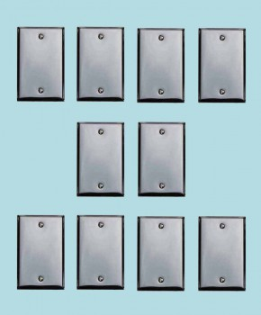 <PRE>10 Switchplate Chrome Single Blank </PRE>zoom2
