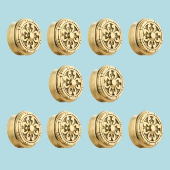 <PRE>10 Fits 2 inch Polished Solid Brass Fits 2 in. RSF Brass Decorative End  Plugs</PRE>zoom2