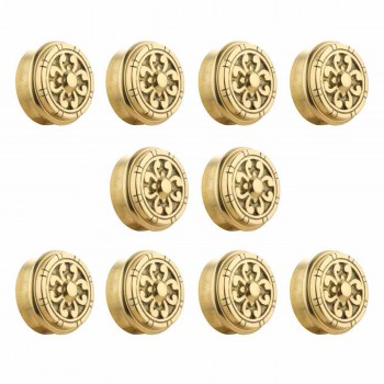 10 Fits 2 inch Polished Solid Brass Fits 2 in. RSF Brass Decorative End  Plugs Tubing End Caps End Caps for Tubing Railing Caps