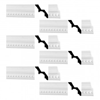 <PRE>Renovator's Supply Cornice White Urethane Laurah Ornate Design 6 Pieces Totaling 474inch Length</PRE>zoom1