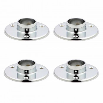4 Bar Bracket Chrome Over Brass Bar Bracket Chrome 4 in. Flange Fits 1 1