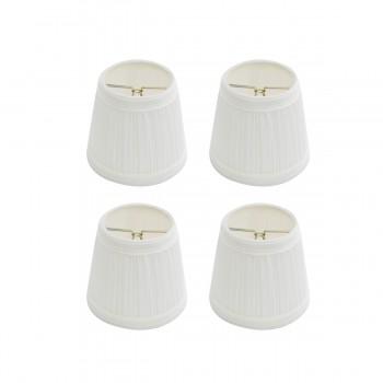 Lamp Shade White Fabric 4 1/16