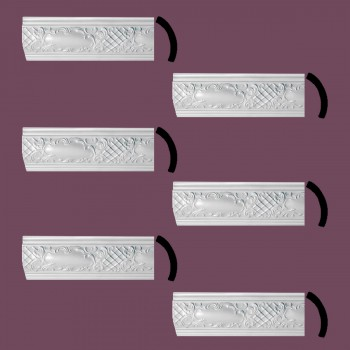 Ornate Cornice White Urethane Brook Design 6 Pieces Totaling 283.5 Length White PrePrimed Urethane Crown Cornice Molding Cornice Crown Home Depot Ekena Millwork Molding Wall Ceiling Corner Cornice Crown Cove Molding