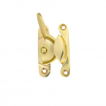 Brass Window Hardware Sash Lock Fastener Lacquered Heavy Duty 2 5/8