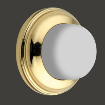 Door Wall Stop Bumper Bright Solid Brass Backplate guard protector hardware knob stopper diy commercial residential interior inside exterior outside accessories silencer