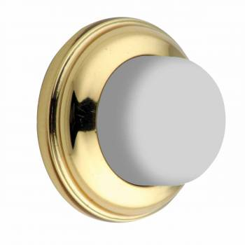 Door Wall Stop Bumper Bright Solid Brass Backplate 70020grid
