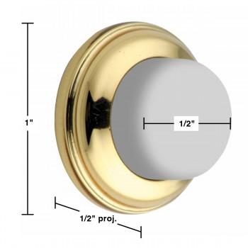 spec-<PRE>Door Wall Stop Bumper Bright Solid Brass Backplate </PRE>