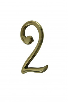 <PRE>Bright Solid Brass 3inch Address House Number '2' Pin Mount </PRE>zoom1