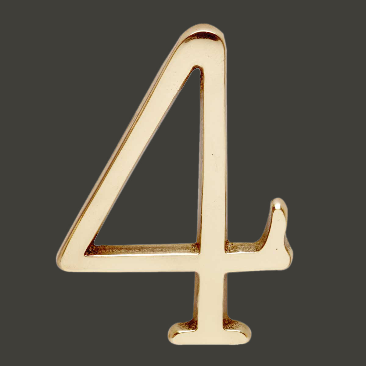 Bright Solid Brass 3 Address House Number 39 4 39 Pin Mount