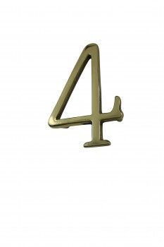 Bright Solid Brass 3 Address House Number 4 Pin Mount Mail Box Numbers Mailbox Numbers House Number