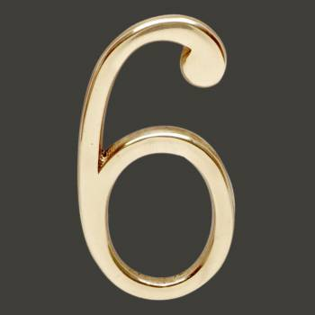 <PRE>Bright Solid Brass 3inch Address House Number '6' '9' Pin Mount </PRE>zoom2