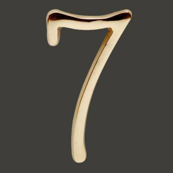 <PRE>Bright Solid Brass 3inch Address House Number '7' Pin Mount </PRE>zoom2