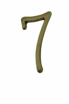 <PRE>Bright Solid Brass 3inch Address House Number '7' Pin Mount </PRE>zoom1
