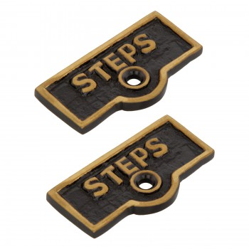 2 Switch Plate Tags STEPS Name Signs Labels Cast Brass Switch Plate Labels Switch Plate ID Labels Switch Plate Label