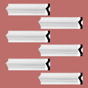 <PRE>Renovator's Supply Crown Molding White Urethane Abbot Simple Design 6 Pieces Totaling 564inch Length</PRE>zoom2