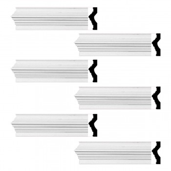 <PRE>Renovator's Supply Crown Molding White Urethane Abbot Simple Design 6 Pieces Totaling 564inch Length</PRE>zoom1