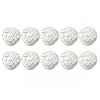 <PRE>Crazed Gray-White Porcelain Knobs 1&quot; dia, Set of 10 </PRE>