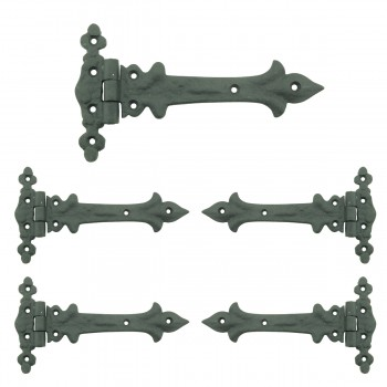7 Inch Wrought Iron Strap Hinge Southern Charm RSF Resistant Barn Door Hardware Wrought Iron Door Hinges Cabinet Door Hinges Vintage Strap Hinges