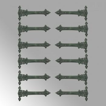 Wrought Iron Door Strap Hinge 9