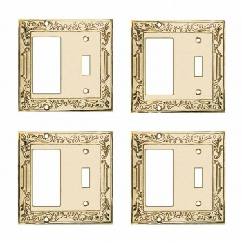 4 Victorian Switch Plate GFI Toggle PVD Solid Brass Switch Plate Wall Plates Switch Plates