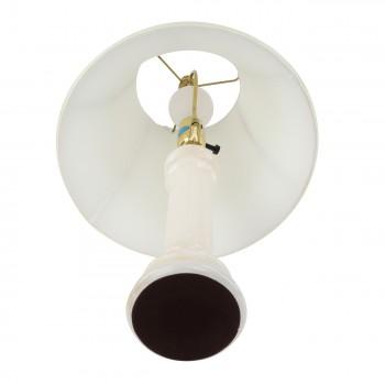 <PRE>2 Table Lamp White Alabaster Pillar Beige Shade 22inchH </PRE>zoom5
