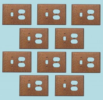 <PRE>10 Switchplate Oak Toggle/Outlet </PRE>zoom2