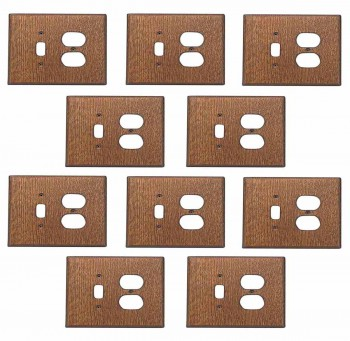 <PRE>10 Switchplate Oak Toggle/Outlet </PRE>zoom1