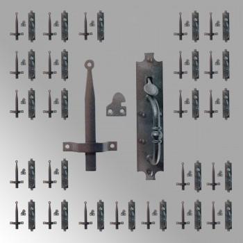 "<PRE>25 Cast Iron Door Latch Black inchColonial Norfolk"" 8"" Tall  </PRE>zoom2"