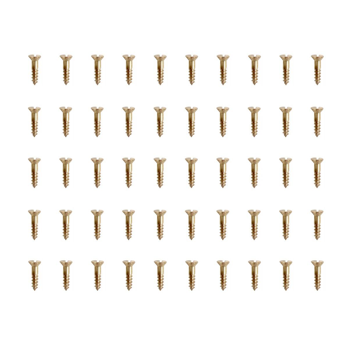 #4 Brass Flat Head Wood Screws 12 Pack of 50 Screws Bag Of Screws Brass Screws