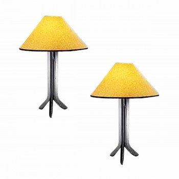 2 Wrought Iron Wrought Iron Table Lamp 28 H x 20 dia. inch