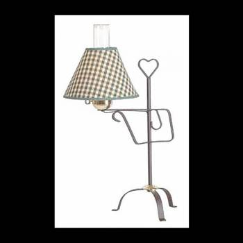 <PRE>2 Table Lamp Black Iron Table Lamp Green Shade 24.5inchH </PRE>zoom3