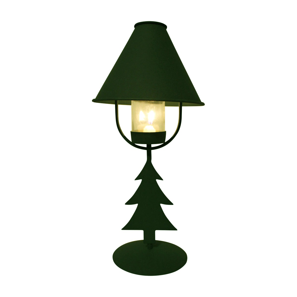 2 Christmas Tree Table Lamp Antique Green Metal Lamp Table Lights Lamps