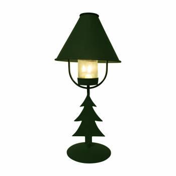 <PRE>2 Christmas Tree Table Lamp Antique Green Metal </PRE>zoom4