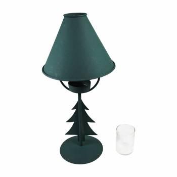 <PRE>2 Christmas Tree Table Lamp Antique Green Metal </PRE>zoom6