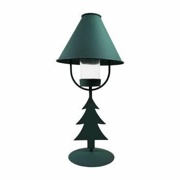 <PRE>2 Christmas Tree Table Lamp Antique Green Metal </PRE>zoom7