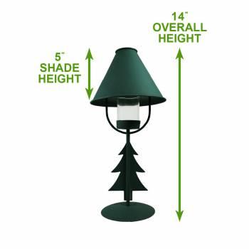 spec-<PRE>2 Christmas Tree Table Lamp Antique Green Metal </PRE>