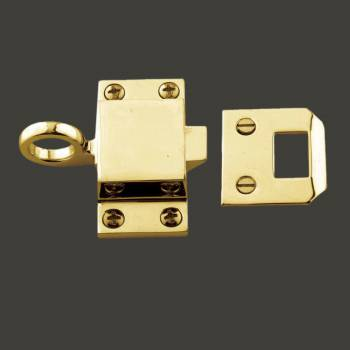 <PRE>Bright Solid Brass Transom Window Latch </PRE>zoom2