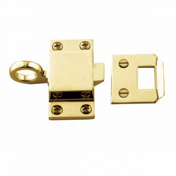 <PRE>Bright Solid Brass Transom Window Latch </PRE>zoom1