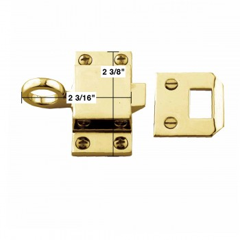 spec-<PRE>Bright Solid Brass Transom Window Latch </PRE>