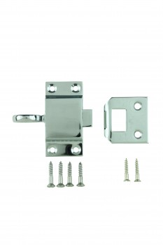<PRE>Chrome Solid Brass Transom Window Latch </PRE>zoom2